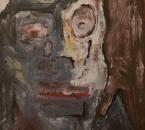 Descente en clair obscur - Acrylique et sable sur toile - 116x89 - 1993.jpg