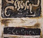 Empreinte II - Scorpion - Technique mixte sur toile - 130x89 - 1993.jpg