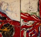 Sans titre - Dyptique -  Acrylique sur toile  - 73x54(x2) - 1990.jpg