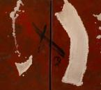 Diptyque rouge - Acrylique Et Collage Sur Toile - 130x81 - 2000.jpg