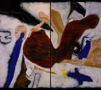 Rouge coeur - Acrylique Et Collage Sur Carton contrecollé sur panneau bois - 241x190 - 2001.jpg