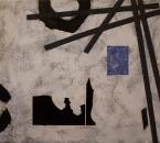 SANS TITRE - Acrylique Et Collage Sur Toile - 100x81 - 2001.JPG