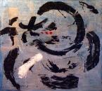PEINTURE N°23 - SANS TITRE - Acrylique et collage sur toile - 150x150 - 2008.jpg
