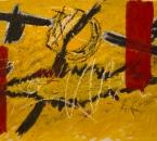 Peinture N°22 -  Huile et collage sur toile maroufle sur panneau bois - 195x114 - 2008.jpg