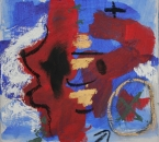 peinture-no-66-acrylique-pigments-et-huile-sur-toile-30x30-2012