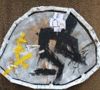 Peinture No 98 - Technique mixte sur panneau bois - 190x140 - 2014