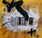 Peinture No 99 - Technique mixte sur toile - 100x100 - 2014