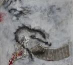 Peinture No 106 - Technique mixte sur toile - 100x100 - 2015.JPG