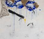 Peinture No 119 ( Les larmes du ciel) - Technique mixte sur toile - 100x80 - 09-2015.jpg