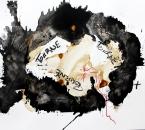 Sans Titre -  Acrylique, Encre et Crayon Sur Papier 72 - 50x65 - 5-2011.jpg
