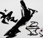 Sans Titre -  Huile et Crayon Sur Papier 69 - 50x65 - 5-2011.jpg