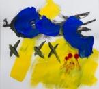 Sans titre - Acrylique et crayon sur papier 279 - 40x40 cm - 2019..jpg