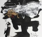 Sans titre - Encre, acrylique, huile et crayon sur papier 82 - 65x50 - 2013.JPG