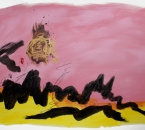 Sans titre - Encre, acrylique, pigment, brou de noix, huile et crayon sur papier 124 - 105x74,5 - 2014.JPG