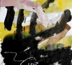 Sans titre - Encre, brou de noix, pigment, huile, collage et crayon sur papier 128 - 50x70 - 2014.JPG