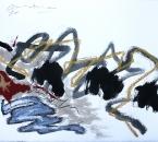 Sans titre - Encre, crayon, acrylique, brou de noix et huile sur papier 152 - 76x56 - 2014.JPG