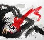 Sans titre - Encre, crayon, huile, pigment et collage sur papier 112 - 76x56 - 2014.JPG