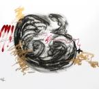 Sans titre - Pigment, huile et crayon sur papier 105 - 50x70 2014.JPG
