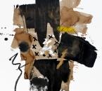 Sans titre - Pigments, brou de noix,huile et crayon sur papier 137 - 50x65 - 2014.JPG