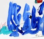 Sans titre - Pigments, huile, crayon et collage sur papier 130 - 50x70 - 2014.JPG