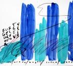 Sans titre - Pigments, huile et crayon sur papier 131 - 50x70 - 2014.JPG