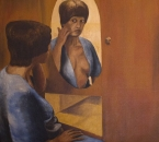 Isabelle au miroir - Huile sur toile - 116x89 - Date inconnue.jpg