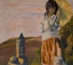 Jeune fille à l'ombrelle (Patricia) - Huile sur toile - 55x38 -1984.jpg