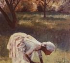 Jeune fille au bouquet - Huile sur toile - Non daté - Collection particulière.jpg