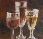 Les trois verres - Huile sur toile - 55x38 - 1984.jpg