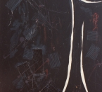 Le jeu du noir - Acrylique et carton sur toile - 100x73 - 1989 - Collection particulière.jpg