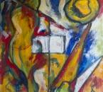 Sans titre - Huile sur toile collée sur panneau aggloméré - 92x65 - 1988.jpg