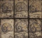 Escargots - Technique mixte sur toile - 35x27(x6) - 1997.jpg