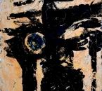SANS TITRE - HUILE ET VERRE SUR TOILE - 73x54 - 1996.JPG