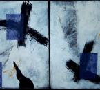 Sans titre - Acrylique et collage sur carton contre collé sur panneau bois - 142x86 - 1998 - Collection particulière.JPG