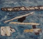 Uaxuctum - Giacinto Scelsi - Technique mixte sur toile - 100x73 - 1996.jpg