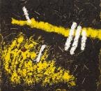 Peinture No 170 - Acrylique, Terre, Paille, Pigments, Talc sur panneau bois - 120x120 - 2019.jpg