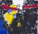 Peinture No 174 - Acrylique, pigments, huile et gaze sur toile - 80x80 - 2019.jpg