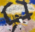 Peinture No 175 - Acrylique, pigments, huile, gaze, terre et sable sur toile - 100x100 - 2019.jpg