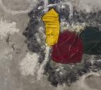Peinture No 178 - Acrylique, pigments et tissus sur toile - 100x100 - 2019.jpg