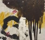 Peinture No 220 - Acrylique, terre et tissus sur toile - 90x90 - 2021.jpg