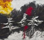 Peinture No 223 - Acrylique, pigments, sac de jute et ficelle sur panneau bois - 120x80 - 2021.jpg