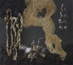 Peinture No 169 - Requiem Gabriel Fauré - VI- Libera me - Technique mixte sur panneau bois - 100x100 - 2019.jpg