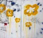 Peinture No 152 (Diptyque) - Serie Bees -  Toile de jute, acrylique et huile sur toile - 194x130 - 2017.jpg