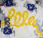 Peinture No 153 - Serie Bees - Technique mixte sur toile - 70x70 - 2018.jpg