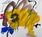 Sans titre - Serie Bees - Acrylique, huile et crayon sur papier - 260 - 35x35 - 2018.jpg