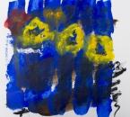 Sans titre - Serie Bees - Acrylique, huile et crayon sur papier - 261 - 35x35 - 2018.jpg