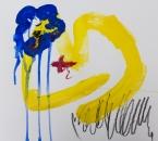 Sans titre - Serie Bees - Acrylique, huile et crayon sur papier - 263 - 35x35 - 2018.jpg