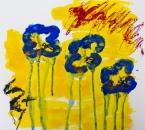Sans titre - Serie Bees - Acrylique, huile et crayon sur papier - 264 - 35x35 - 2018.jpg