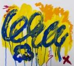 Sans titre - Serie Bees - Acrylique, huile et crayon sur papier - 265 - 35x35 - 2018.jpg