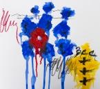 Sans titre - Serie Bees - Acrylique, huile et crayon sur papier - 267 - 35x35 - 2018.jpg